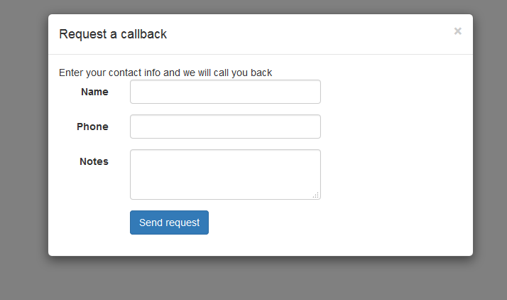Callback Request With Bootstrap 3 For Rails 4 Application